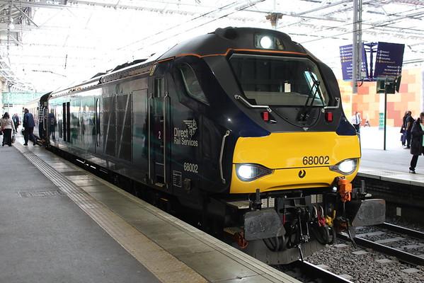 68002 at Edinburgh Waverley on 2L69 1720 to Cardenden. 04.05.15
