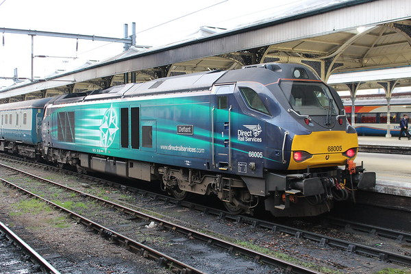68005 at Norwich on arrival of 2P07 0730 from Great Yarmouth. 19.01.17