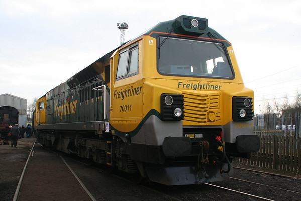 70011 at Crewe Heritage Centre. 12.03.11
