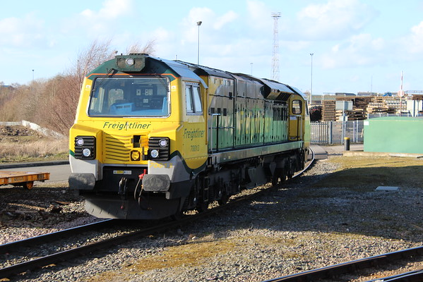 70013 in Crewe Basford Hall yard. 02.03.15