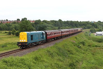20020 on the 2J71 1623 Heywood to Rawtenstall at Burrs on the 3rd July 2015