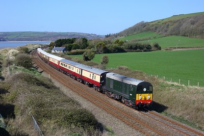 20107 works the 1Z31 Carmarthen to Bristol East Depot at St Ishmael on 4 April 2021  Class20, LSL, WestWalesLine