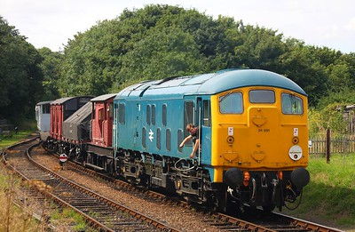 24081 1255 Holt to Sherringham at Weybourne on the 16th August 2009