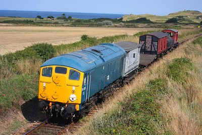 24081 1455 Sherringham to Holt near Weybourne on the 16th August 2009