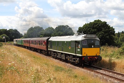 D5185 (25035) on the 2T70 1315 Eridge to Tunbridge Wells at Lealands on the 5th August 2016