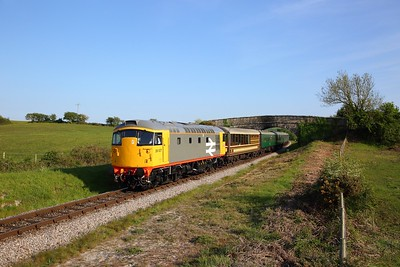 26007 on the 1739 Swanage to Corfe nearing Corfe on the 12th May 2019