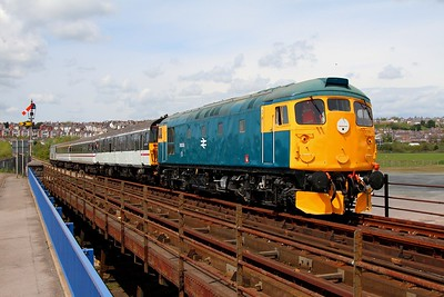26038 crosses the causeway as it arrives into Barry Island with a service from Waterfront on the 6th May 2012.