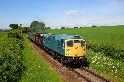 26043 approaching Ropley with the 1200 Alresford to Ropley shuttle on the 3rd June 2018