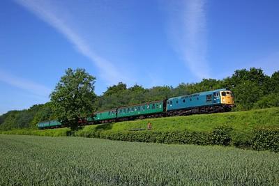 26043 on the 0945 Alresford to Alton near Medstead on the 3rd June 2018