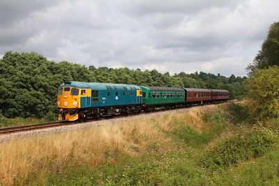 26038 on the 2J65 1220 Tunbridge Wells to Eridge at Pokehill farm crossing on the 1st August 2014