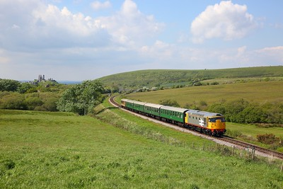 26007 on the 1432 River Frome to Swanage at Corfe Common on the 12th May 2019