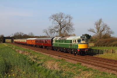 D5401 on the 2A34 1525 Loughborough to Leicester North at Woodthorpe on the 29th March 2014