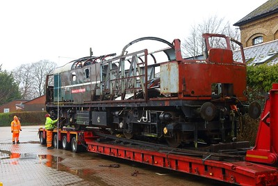 D5353 27007 final minutes at the Mid Hants Railway at Alresford as she is prepared to be taken to Wishaw, Sutton Coldfield on a low loader on the 21st January 2018