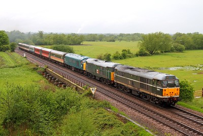 31190+31601+45133 on the 5Z45 Chaddesden sidings to Dereham at Syston on the 24th May 2014