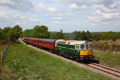 33012 tnt 66783 on the 1304 Wareham to Corfe Castle near Furzebrook on the 13th May 2018