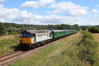 33063 on the 2J11 1115 Tunbridge Wells to Eridge near Groombridge on the 4th August 2017