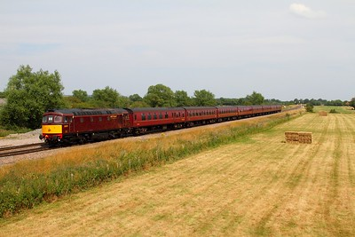 33029 on the 5Z36 Southall to Kingsland Road at Shrivenham on the 26th July 2014 1