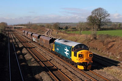 37025 on the 4B20 Barry to Barry via Bristol Parkway at Bishton on the 11th February 2016
