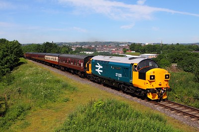 37025 on the 2J58 1120 Bury to Heywood at Heap bridge on the 3rd July 2015
