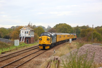 37025+37254 on the 1Q68 0908 Derby to Derby via Worksop at Creswell on the 20th October 2018