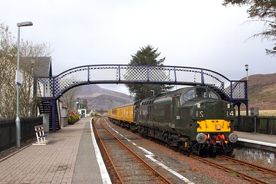 37057 tnt 37421 on the 1Q78 Inverness Millburn to Inverness Millburn via Kyle of Lochalsh at Strathcarron on the 16th April 2017 1