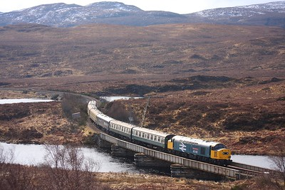 40145 near Achanalt on the 1Z71 0900 Inverness to Kyle of Lochalsh on 4th April 2010