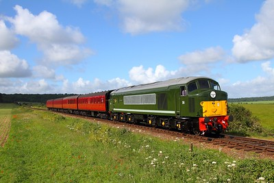 D8 departing Weybourne with the 0852 Holt to Sheringham on the 9th June 2017