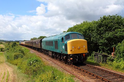 45133 tnt D182 on the 1156 Holt to Sheringham departing Weybourne on the 9th June 2017