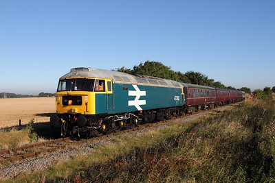 47292 tnt D7529 working Ruddington to Loughborough North south of 50steps jnc on 6 October 2012  Class47, GCRN