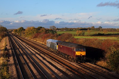 47237+82309 on the 5Z33 1415 Loughborough Brush to Wembley at Cossington on the 12th November 2014