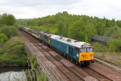 50008+56303 on the 5Z50 York to Derby at Beighton on the 6th May 2017