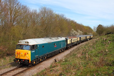 50008 on the 2M39 1210 Peterborough to Wansford at Orton Mere on the 10th April 2016
