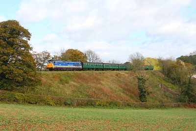 50027 on the 1210 Alton to Alresford at Fourmarks on the 22nd October 2017