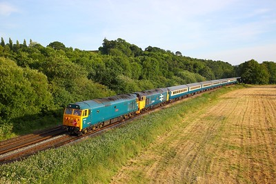 50007+50049 at Collumpton working the 1Z52 Penzance to Tame Bridge Parkway on the 23rd June 2018