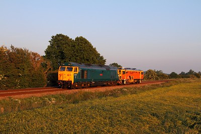 50007+DR73925 at Ashwell on the 6Z25 Ely to Washwood Heath on the 23rd June 2015