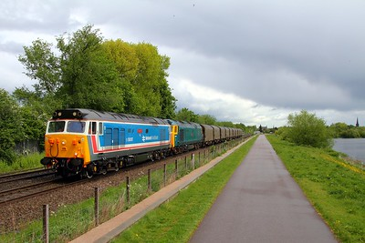 50017+50007 on the 6Z08 Boston Docks to Washwood Heath at Attenborough on the 19th May 2015