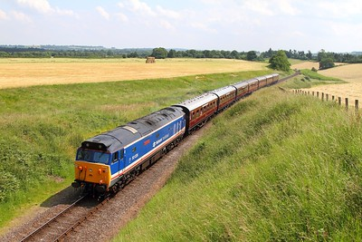 50026 on the 1405 Highley to Bridgenorth at Eardington bank on the 23rd June 2014