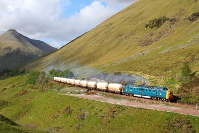 55022 County March Summit with the 6E45 Fort William to Mossend Alcan on the 30th May 2011