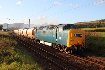 55022 at Ardmore with the 6E45 Fort William to Mossend Alcan on the 30th May 2011