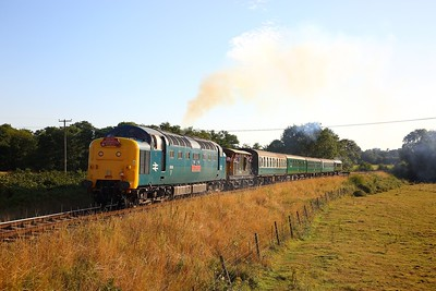 55019 on the 2T28 1755 Eridge to Tunbridge Wells West at Pokehill farm on the 3rd August 2018