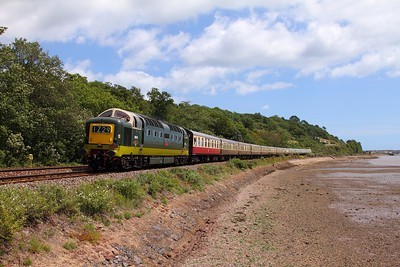 D9009 on the 1Z29 Derby to Kingswear at Bishopsteignton on the 4th July 2015