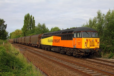 56087 on the 6E07 Washwood Heath to Boston Docks at Attenborough on the 26th June 2014