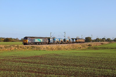 57303 tnt 57306 on the 3S60 Stowmarket to Stowmarket via Chelmsford and Clacton on Sea at Kelvedon on the 21st October 2017