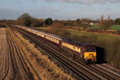 57305 tnt 47790 on the 5Z31 Crewe CS to Nottingham at Barrow upon Trent on the 19th December 2014
