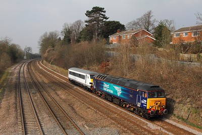57301+82143 on the 5Z53 1314 Loughborough Brush to Norwich at Barrow upon Soar on the 18th March 2015