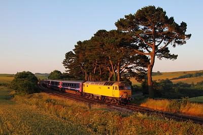 57305 on the 1C99 London Paddington to Penzance at Trerulefoot on the 2nd July 2014