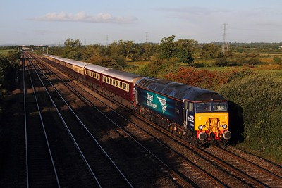 57301 tnt 57305 on the 1Z71 Cardiff Central to Oxenholme at Coedkernew on the 28th August 2015