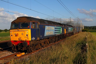 57007+57011 4S45 Daventry to Mossend at Grendon on the 1st July 2013
