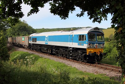 59002 working the 0845 Bishops Lydeard to Minehead at Nethercott on 10 June 2011  Class59, Yeoman, WSR, DB