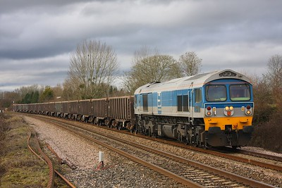 59002 on the 6C28 Riverside yard to Whatley at Bathpool on 16th February 2010
